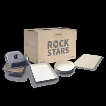Pack de menaje de cerámica Rockstars
