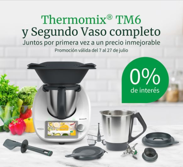 Consigue tu Thermomix® TM6 ¡Sin intereses!