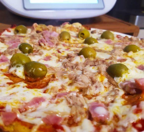 Pizza en la saltén