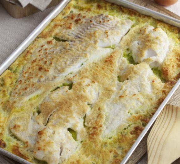 Bacalao fresco con crema de huevo