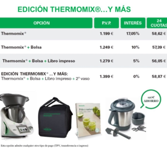 ¡Corred que se acaban! Thermomix® tm5 Huelva